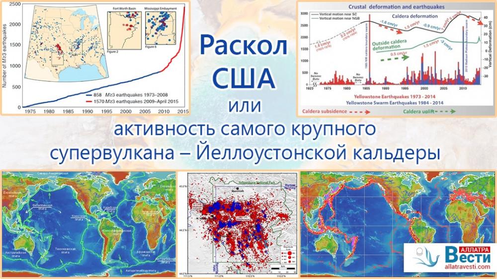 Раскол США или активность самого крупного супервулкана – Йеллоустонской кальдеры