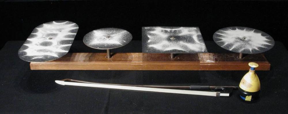 Волны рисуют рисунки или эксперимент Хладни