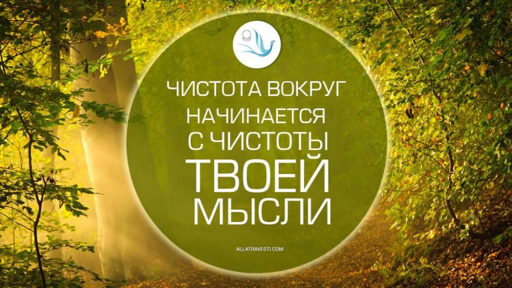 Чистота вокруг начинается с чистоты твоей мысли