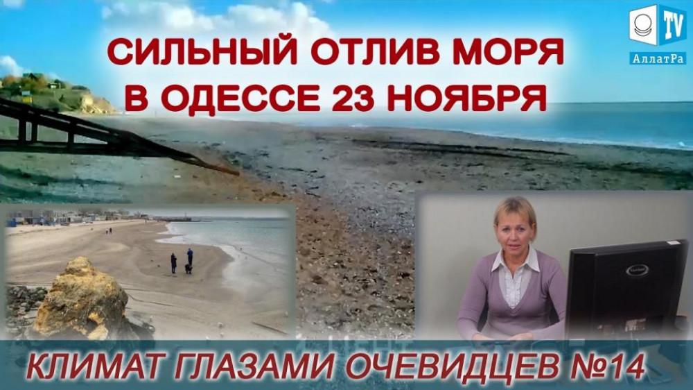Сильный отлив моря в Одессе 23 ноября. Климат глазами очевидцев №14