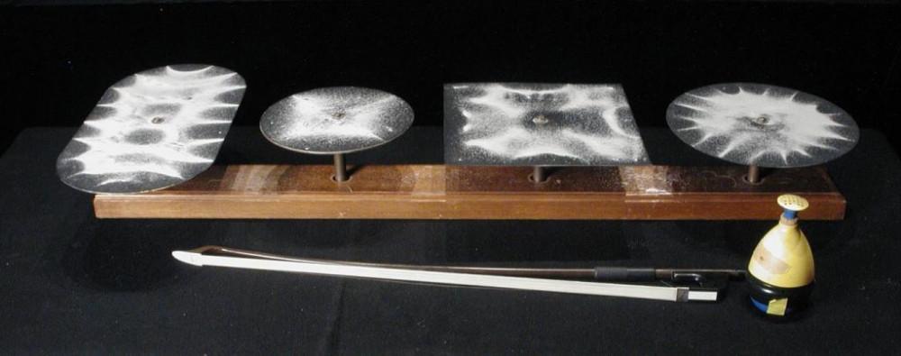 Хвилі малюють малюнки або експеримент Хладні