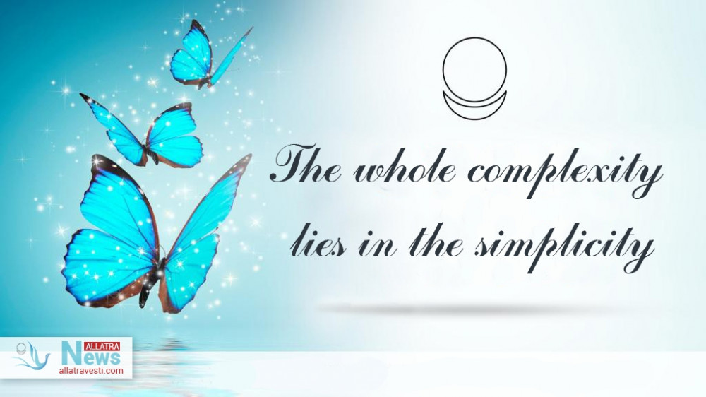 The whole complexity lies in the simplicity