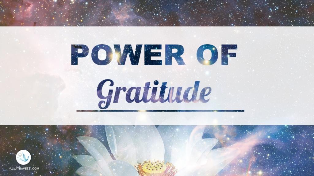 What is  <mark><b>the</b></mark>  power of gratitude?