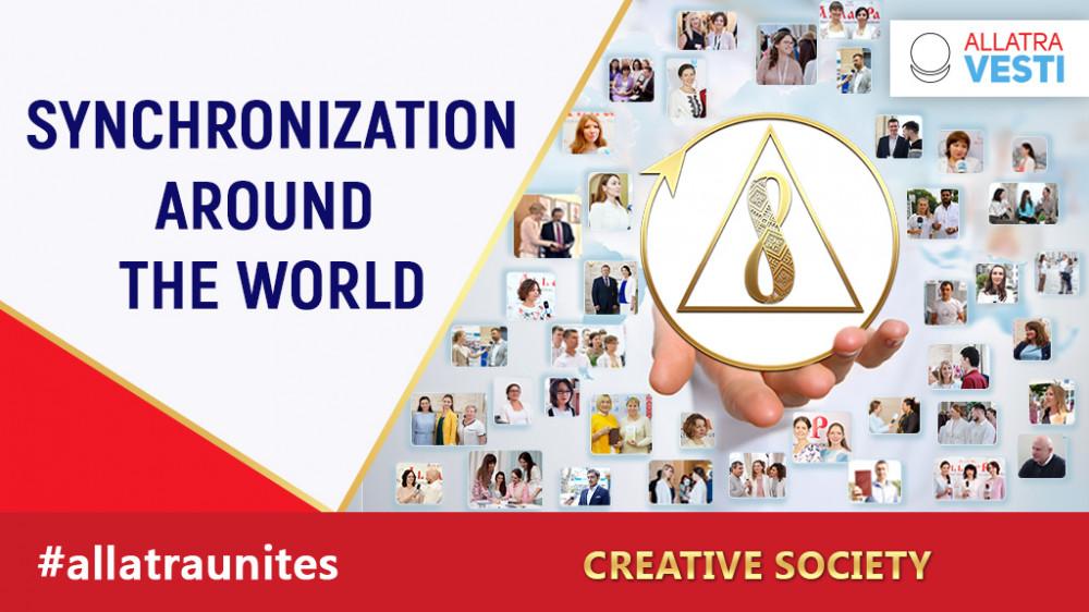 Synchronization around the world.  The Creative Society