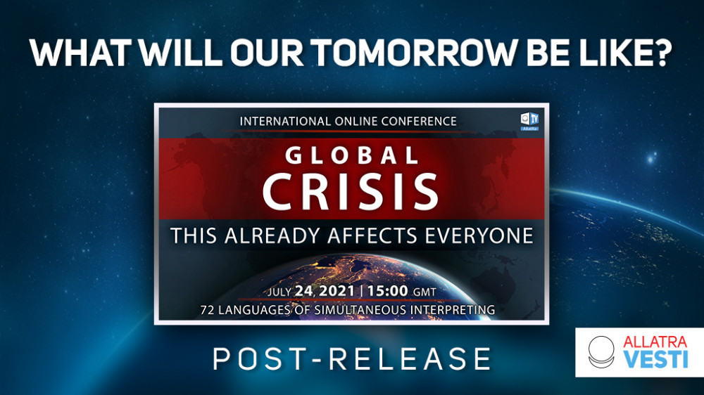 """What will our tomorrow be like? POST-RELEASE of the conference """"Global crisis. This already affects everyone"""""""