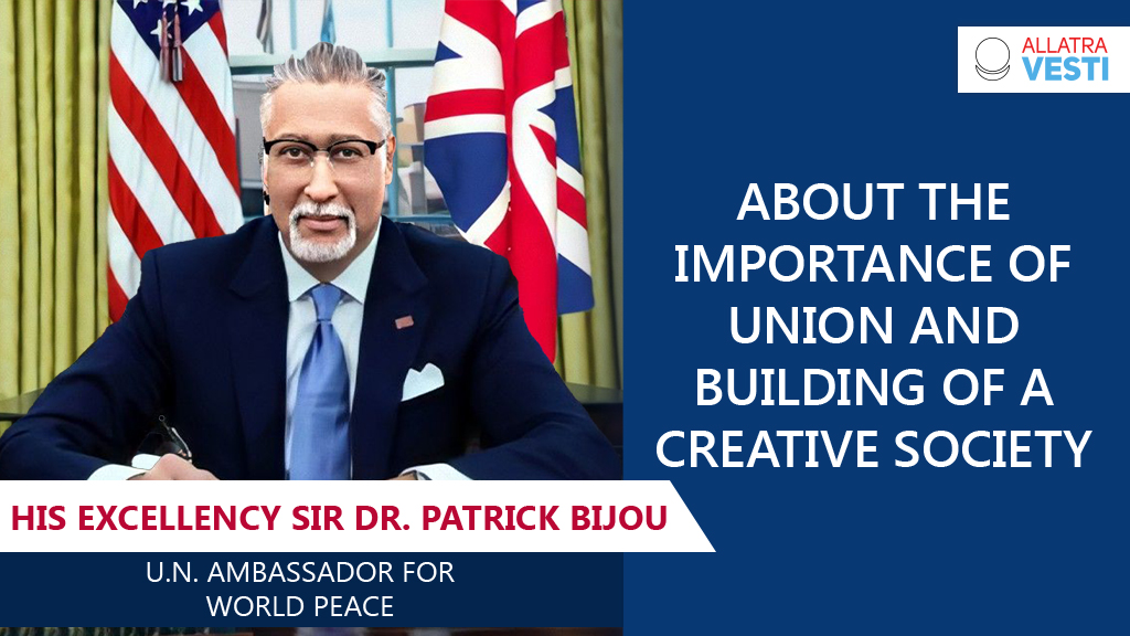 About the importance of union and building a  <mark><b>Creative</b></mark>   <mark><b>Society</b></mark>