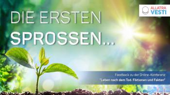 """DIE ERSTEN SPROSSEN… Feedback zu der Online-Konferenz """"Leben nach dem Tod. Fiktionen und Fakten"""""""