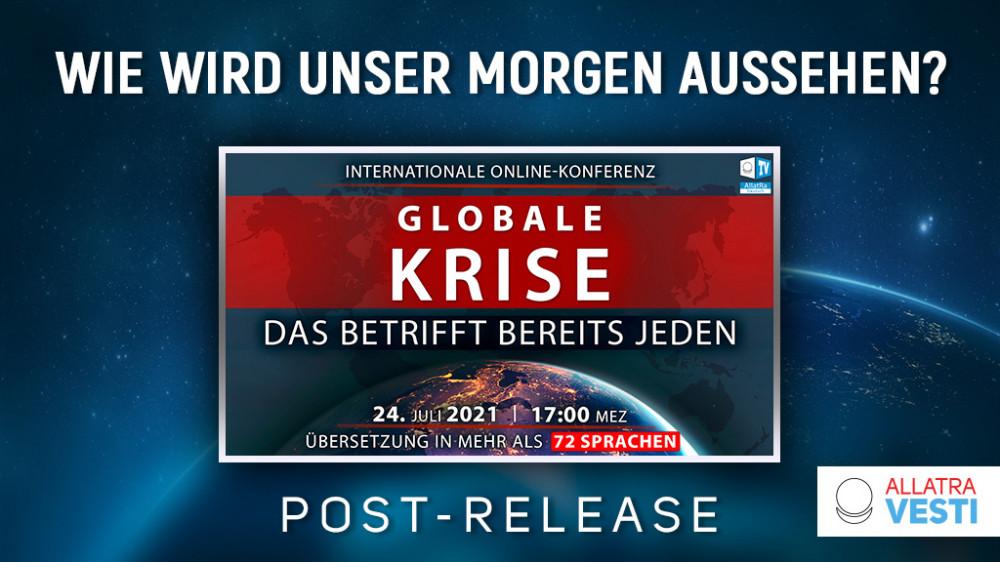 """Wie wird unser Morgen aussehen?  Post-Release der Konferenz """"Globale Krise. Das betrifft bereits jeden""""."""